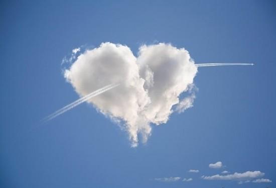 Облако в виде сердечка