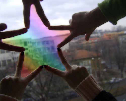 Звезда сложенная из рук