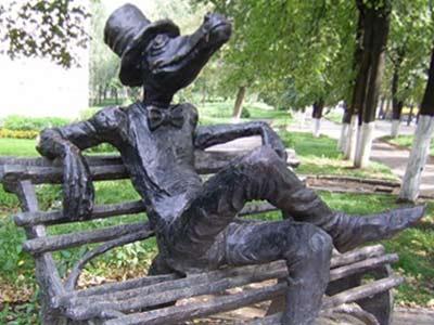 Памятник Крокодилу в Ижевске