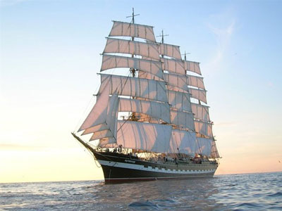 картинки корабля с парусами