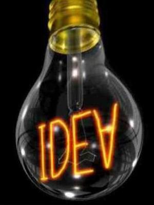 Лампочка со спиралью идея