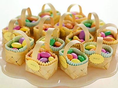 Корзинки с конфетами
