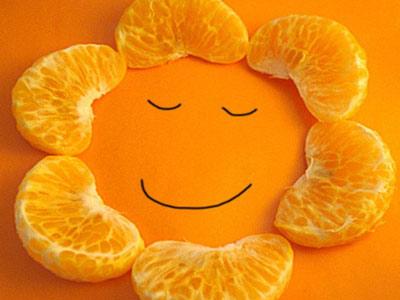 Солнце из апельсина