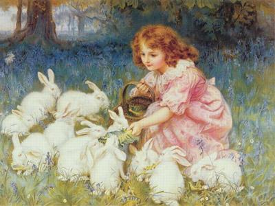 Богиня весны с кроликами