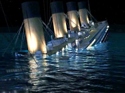 Тонущий Титаник