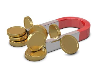 Магнит и золотые монеты