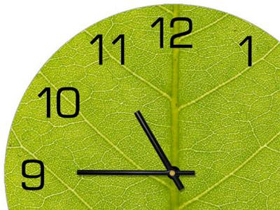 Часы, на которых стрелки показывают без 15 минут одиннадцать