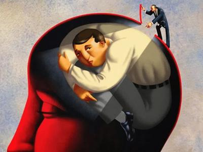 Человек пытается заглянуть в свое сознание