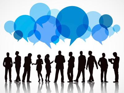 Люди общаются друг с другом